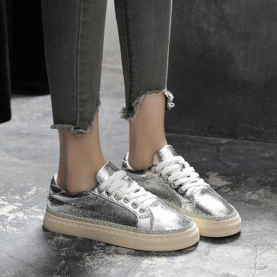 帆布鞋女学生平底儿童单鞋透气运动浅口小皮原宿风夏季网红同款鞋