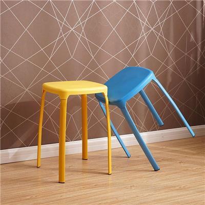 简易不锈钢圆凳子餐桌凳家用成人时尚创意折叠布艺客厅高凳防滑椅图片