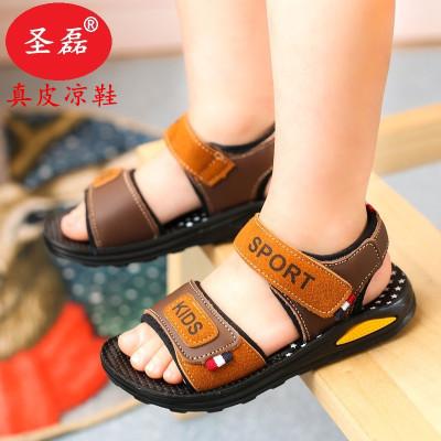水钻凉鞋女高跟中童套装时装儿童室内鞋岁半宝宝鞋平底女学生韩版