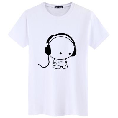 2019新款男装短袖t恤 男士夏季潮流半袖体恤 青少年印花学生衣服
