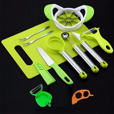 【多功能水果工具3-10件套】多功能切果神器套装西瓜挖球器水果刀
