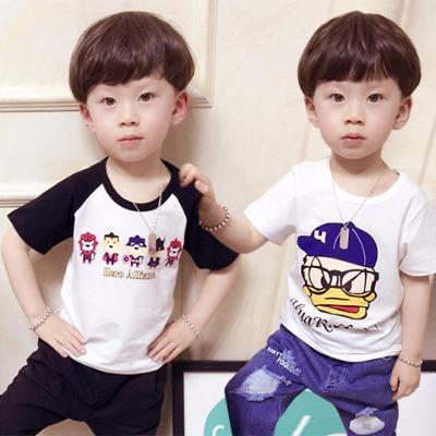 童装男童短袖t恤儿童夏装体恤2018中小童短袖小孩打底衫半袖韩版
